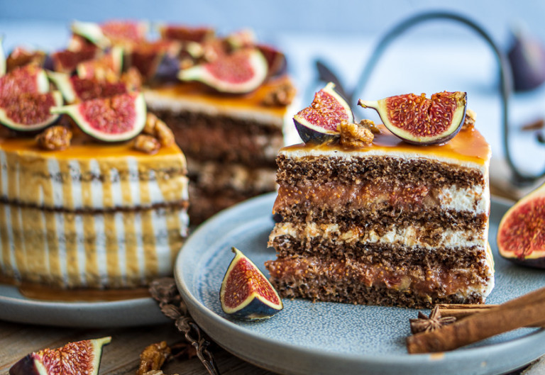 Ach du schöne Feigenzeit - Feigen-Walnuss-Torte mit Honig